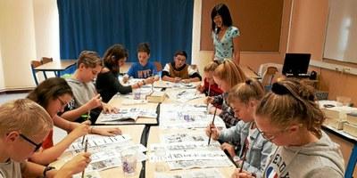 2018-10-01 Académie de Rennes - Le chinois en classe de cinquième au collège du Vizac